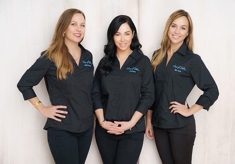 The skin care team at Face of Jules in Los Angeles.