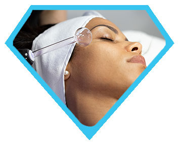 High frequency facial in Los Angeles for female client at Face of Jules