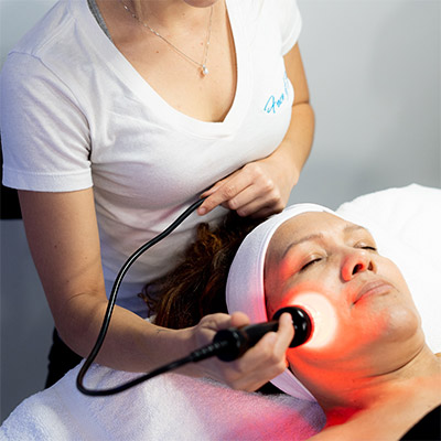 Microcurrent facial at Face of Jules in Los Angeles